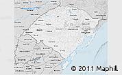 Silver Style 3D Map of Rio Grande do Sul