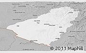Gray Panoramic Map of Baje