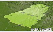 Physical Panoramic Map of Baje, darken
