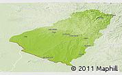 Physical Panoramic Map of Baje, lighten