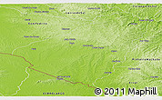Physical Panoramic Map of Baje