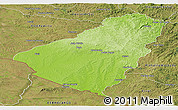 Physical Panoramic Map of Baje, satellite outside