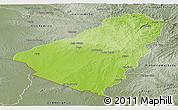 Physical Panoramic Map of Baje, semi-desaturated