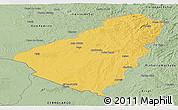 Savanna Style Panoramic Map of Baje