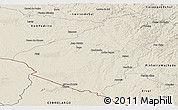 Shaded Relief Panoramic Map of Baje