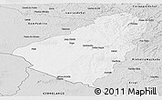 Silver Style Panoramic Map of Baje