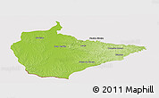 Physical Panoramic Map of Dom Pedrito, cropped outside