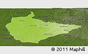 Physical Panoramic Map of Dom Pedrito, darken