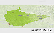 Physical Panoramic Map of Dom Pedrito, lighten