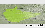 Physical Panoramic Map of Dom Pedrito, semi-desaturated