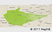 Physical Panoramic Map of Dom Pedrito, shaded relief outside