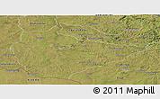 Satellite Panoramic Map of Dom Pedrito