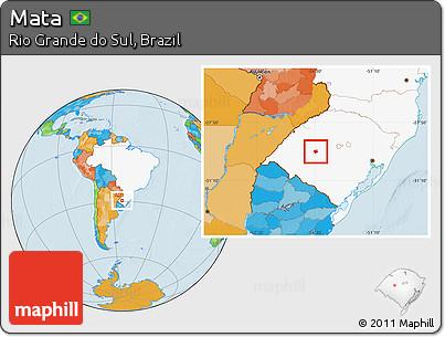 Mata Rio Grande do Sul fonte: maps.maphill.com