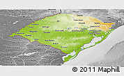 Physical Panoramic Map of Rio Grande do Sul, desaturated