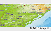 Physical Panoramic Map of Rio Grande do Sul