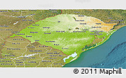 Physical Panoramic Map of Rio Grande do Sul, satellite outside