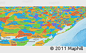 Political Panoramic Map of Rio Grande do Sul