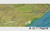 Satellite Panoramic Map of Rio Grande do Sul