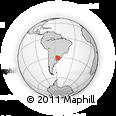 Outline Map of Santana Do Livra