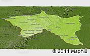Physical Panoramic Map of Santana do livra, darken