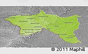 Physical Panoramic Map of Santana do livra, desaturated