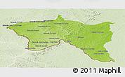 Physical Panoramic Map of Santana do livra, lighten