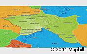 Physical Panoramic Map of Santana do livra, political outside