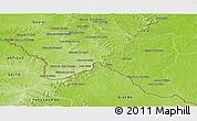 Physical Panoramic Map of Santana do livra
