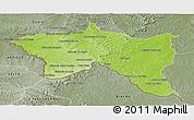Physical Panoramic Map of Santana do livra, semi-desaturated