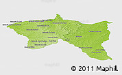 Physical Panoramic Map of Santana do livra, single color outside