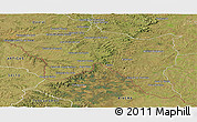Satellite Panoramic Map of Santana do livra