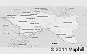 Silver Style Panoramic Map of Santana do livra