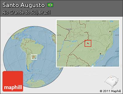 Santo Augusto Rio Grande do Sul fonte: maps.maphill.com