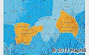 Political Shades Map of Rio Grnde do Sul