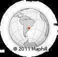 Outline Map of Rio Grnde Do Sul