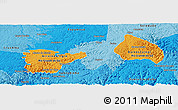 Political Shades Panoramic Map of Rio Grnde do Sul