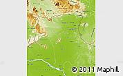Physical Map of Roraima