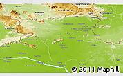 Physical Panoramic Map of Roraima