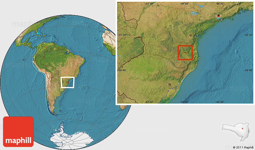 Dona Emma Santa Catarina fonte: maps.maphill.com