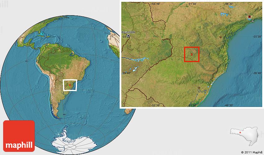 Irani Santa Catarina fonte: maps.maphill.com