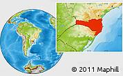 Physical Location Map of Santa Catarina