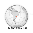 Outline Map of Santa Catarina
