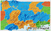 Political 3D Map of Bananal