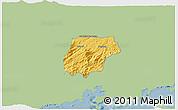 Savanna Style 3D Map of Bananal, single color outside