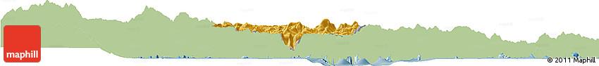 Savanna Style Horizon Map of Bananal, single color outside