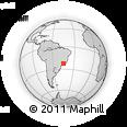 Outline Map of Cruzeiro