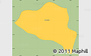 Savanna Style Simple Map of Cruzeiro, single color outside