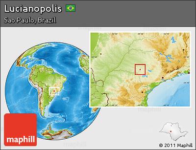 Lucianópolis São Paulo fonte: maps.maphill.com