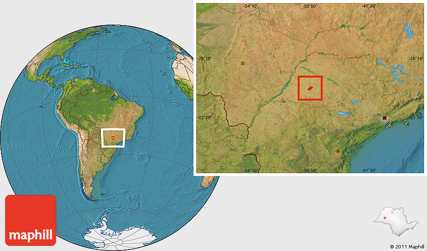 Parapuã São Paulo fonte: maps.maphill.com