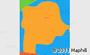 Political Simple Map of Queluz